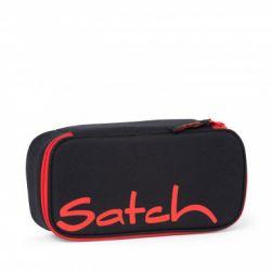 satch Pencil Box, black, green, neon, Fire Phantom