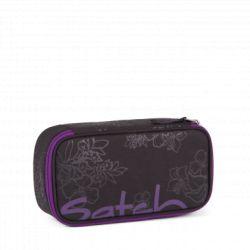 satch Pencil Box - black, purple,  - Purple Hibiscus