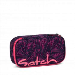satch Pencil Box - pink, blue, neon - Pink Bermuda