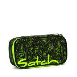 satch Pencil Box - black, neon, green - Green Bermuda