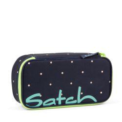 satch Pencil Box - blue, yellow, peach - Pretty Confetti