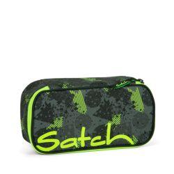satch Pencil Box, black, green, neon, Off Road