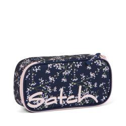 satch Pencil Box - dark blue, rose, white - Bloomy Breeze