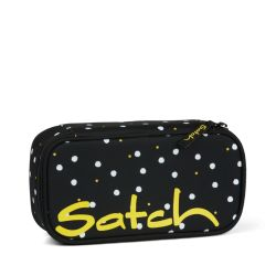 satch Pencil Box, black, white, yellow, Lazy Daisy