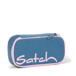 satch Pencil Box - light blue, rose,  - Deep Rose