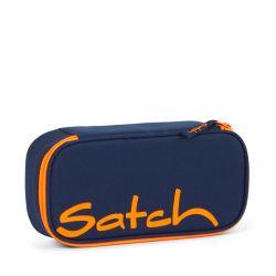 satch Pencil Box - dark blue, neon, orange - Toxic Orange