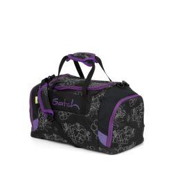 satch Duffle Bag - black, purple, reflective - Ninja Hibiscu