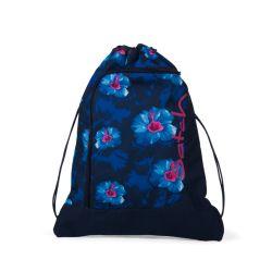 satch Gym Bag - blue, pink, white - Waikiki Blue