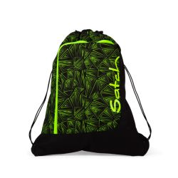 satch Gym Bag, black, neon, green, Green Bermuda