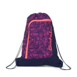 satch Gym Bag, pink, blue, neon, Pink Bermuda