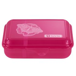 Lunchbox Natural Butterfly, Pink