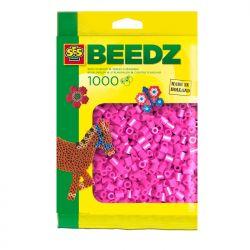 Bügelperlen 1000 Stück neon rosa