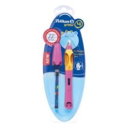 Füllhalter Griffix 4 Berry/Pink P2BEL für Linkshänder bliste
