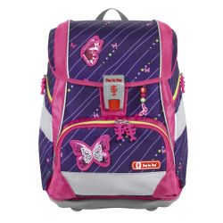 2IN1 PLUS Schulranzen-Set Shiny Butterfly, 6-teilig