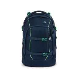 satch pack - dark blue, green - Tokyo Meshy