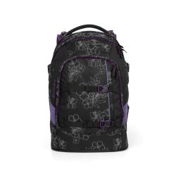 satch pack - black, purple, reflective - Ninja Hibiscus