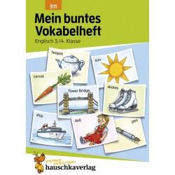 Hauschka Verlag - Mein buntes Vokabelheft. Englisch 3./4. Klasse, A5- Heft
