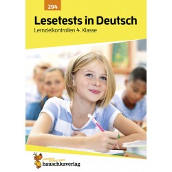 Hauschka Verlag - Lesetests in Deutsch - Lernzielkontrollen 4. Klasse, A4- Heft