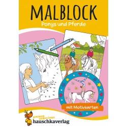Hauschka Verlag - Malblock - Ponys und Pferde, A5-Block