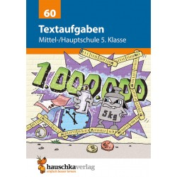 Hauschka Verlag - Textaufgaben Mittel-/Hauptschule 5. Klasse, A5- Heft