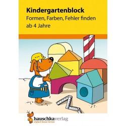 Hauschka Verlag - Kindergartenblock - Formen, Farben, Fehler finden ab 4 Jahre, A5-Block